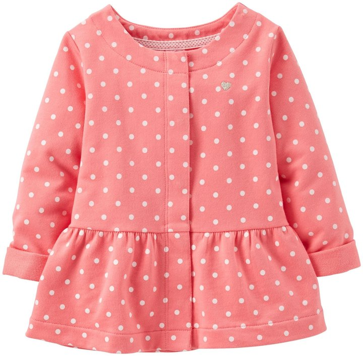 Carter's Dotted Knit Cardigan (Baby) - Pink-3 Months