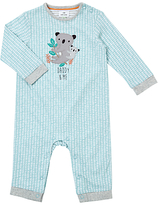 John Lewis Koala Daddy Romper Playsuit, Blue