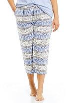 Sleep Sense Plus Animal Stripes Capri Sleep Pants