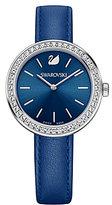 Swarovski Daytime Crystal Analog Leather-Strap Watch