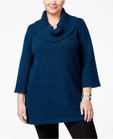Karen Scott Plus Size Cowl-Neck Tunic, Only at Macy's