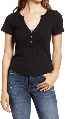 Project Social T V-Neck Button Top