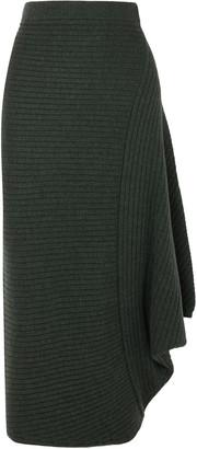 J.W.Anderson Infinity Ribbed Merino Wool Skirt