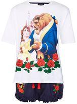 Embroidered rose beauty and beast pyjama set