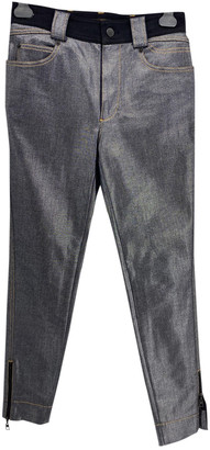 Louis Vuitton Silver Cotton - elasthane Jeans