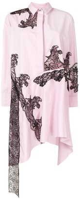 Marques Almeida Lace Insert Shirt Dress