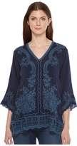 Johnny Was Embroidered Blouse Women's Blouse