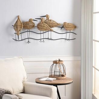 Stylecraft Home Collection StyleCraft Flock of Birds Natural Woven Seagrass Wall Art