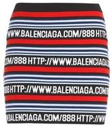 Balenciaga Cotton-blend mini skirt