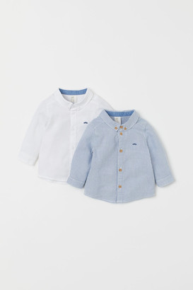 H&M 2-pack Cotton Shirts - Blue
