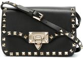 Valentino 'Rockstud' crossbody bag - women - Calf Leather/Platinum - One Size