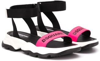 DSQUARED2 Logo Print Sandals