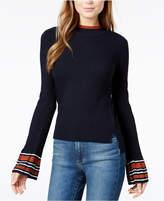 J.o.a. Ribbed Flared-Sleeve Sweater
