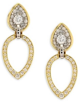Plevé Opus Diamond & 18K Yellow Gold Pear Stud & Ear Jacket Set