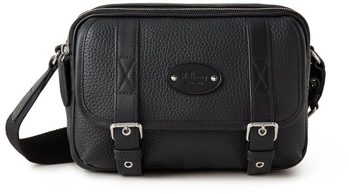 Mulberry Heritage Small Messenger Black Heavy Grain and Silky Calf
