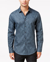 INC International Concepts Men's Geo Jacquard Long-Sleeve Shirt, Only at Macy's