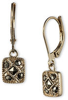 Judith Jack Sterling Silver and Marcasite Square Drop Earrings