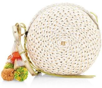 Eric Javits Squishee Bali Woven Round Crossbody Bag