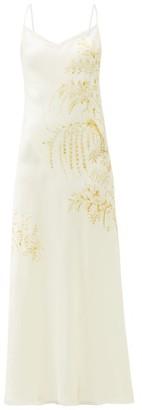 Carine Gilson Floral-print Silk-satin Slip Dress - White Print