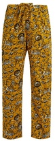 Etoile Isabel Marant Alka floral-print cropped trousers
