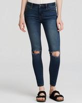 Free People Destroyed Skinny Jeans in Josie Wash