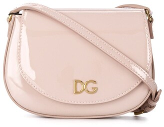 Dolce & Gabbana Kids DG logo patent leather crossbody bag