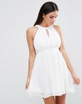 Club L Chiffon Pleated Dress