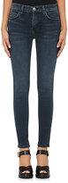 Current/Elliott Women's High-Waist Skinny Ankle Jeans-NAVY
