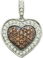 DazzlingRock Collection 0.50 Carat (ctw) 14k White Gold Round & White Diamond Ladies Heart Pendant