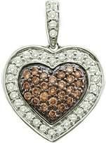 DazzlingRock Collection 0.50 Carat (ctw) 14k White Gold Round & White Diamond Ladies Heart Pendant