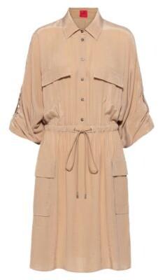 HUGO BOSS Long-sleeved utility dress with drawstring waist