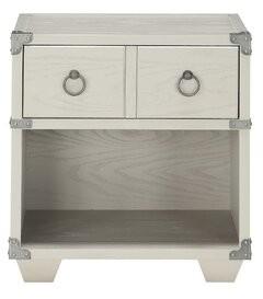 Kelise 2 - Drawer Nightstand in Gray Mason & Marbles