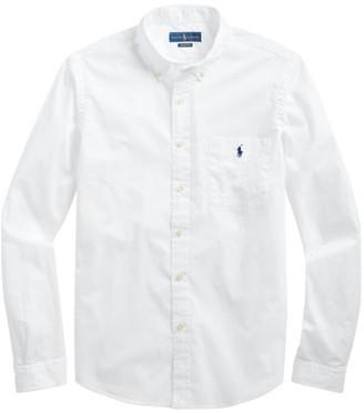 Polo Ralph Lauren Beach Cloth Long-Sleeve Button-Front Shirt