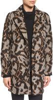 Veronica Beard Camille Short Animal-Print Cocoon Jacket, Multicolor