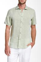 Report Collection Short Sleeve Linen Modern Fit Sport Shirt