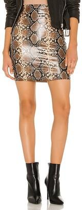 Commando Faux Leather Animal Mini Skirt