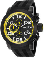 Redline Red Line 50068-BB-01-YDR Men's Night Rally Chronograph Black Silicone and