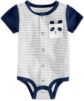 First Impressions Striped Panda Cotton Snap-Up Bodysuit, Baby Boys (0-24 months), Only at Macy's