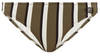 Solid & Striped The Rachel Striped Bikini Briefs - Green Stripe
