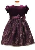 Sorbet Velvet Bodice Fit & Flare Dress