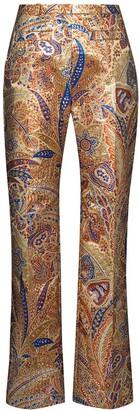 Paco Rabanne Paisley-Print Straight-Leg Trousers