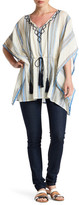 Vince Camuto Embroidered Towel Stripe Poncho