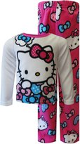 Hello Kitty Little Girls' Heart Micro-Fleece Pajama Set (White)