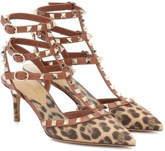 Valentino Rockstud leopard-print pumps
