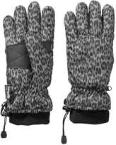Joe Fresh Women's Leopard Print Gloves, Grey (Size M/L)