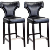 Asstd National Brand Kings Bar Height Barstool With Metal Studs, Set Of 2
