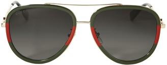 Gucci Colorblock Aviator Sunglasses