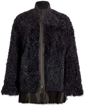 Akris Reversible Shearling Bomber Coat