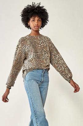 Ragdoll LA OVERSIZED SWEATSHIRT Brown Leopard