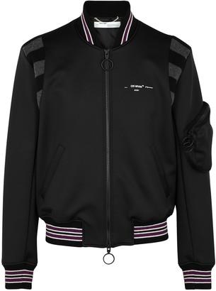 Off-White Black neoprene bomber jacket